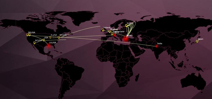 Le Threat Cloud: la carte mondiale et interactive des attaques numériques